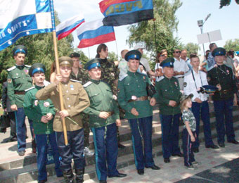 На праздновании 300 летия победы русских войск под Полтавой