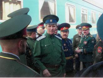 Встречаем атамана Всевеликого войска донского В.П. Водолацкого. 2007г